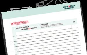 Aktive Kontaktliste - Das wichtigste Werkzeug Network Marketing