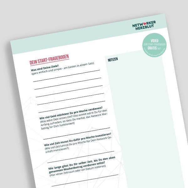 Startfragebogen - Für Dich und Deine Partner