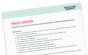 Checkliste Launch - Alles nach Plan für Events in Network Marketing